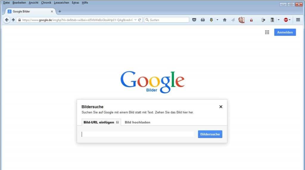 Google Bildersuche Hochladen