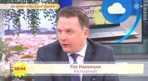 Rechtsanwalt Hoesmann war als Experte Gast im Sat1  Frühstücksfernsehen