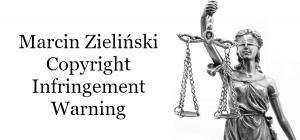 Copyright infringement warnings by marcin Zieliński photoclaim