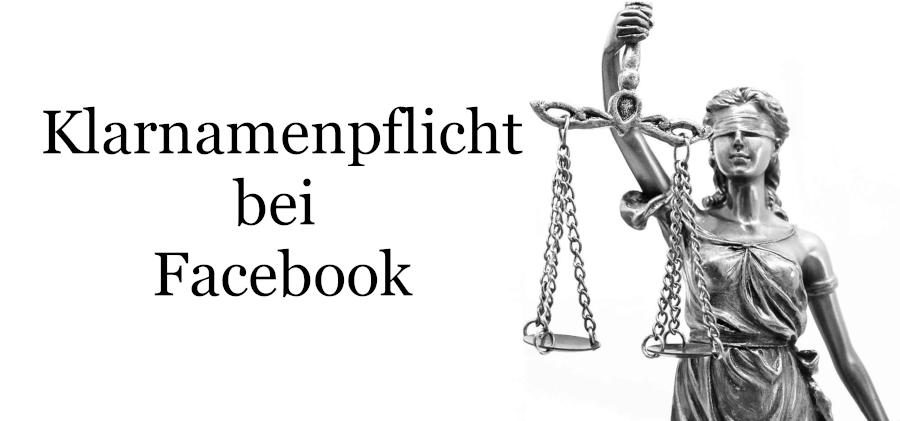 Klarnamenpflicht bei Facebook