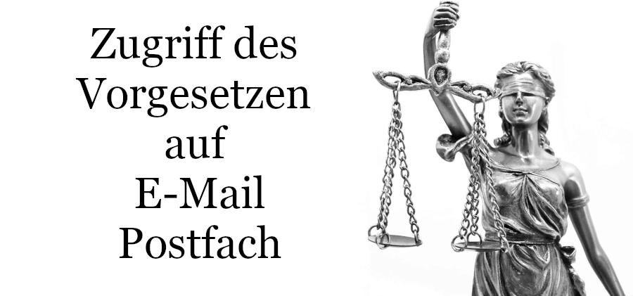 Zugriff E-Mail Postfach Mitarbeiter