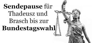 Sendepause für Jörg Thadeusz und Marion Brasch bis zur Bundestagswahl